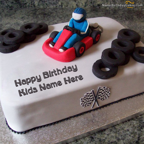 Awe Inspiring Write Name On Car Birthday Cake For Kids Happy Birthday Wishes Personalised Birthday Cards Cominlily Jamesorg