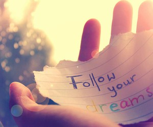 Dream and follow image