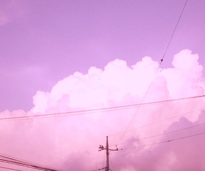 pink, cloud, and sky image