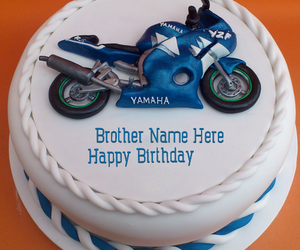 Write Name On Bike Birthday Cake For Brother Happy Wishes Png 300x250 Boy