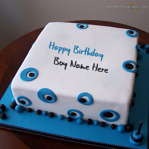Outstanding Write Name On Blue Birthday Cake For Boys Happy Birthday Wishes Personalised Birthday Cards Paralily Jamesorg