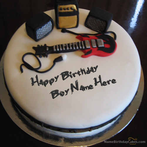 Write Name On Music Birthday Cake For Boys Happy Birthday Wishes
