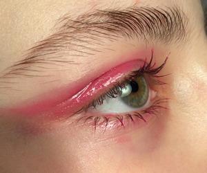 eye, makeup, and pale image