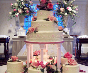cake, flower, and pink image