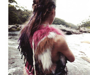 fur, model, and pink image