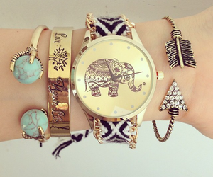 elephant, fahsion, and watch image