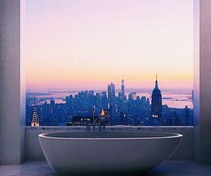 bath, city, and bathroom image
