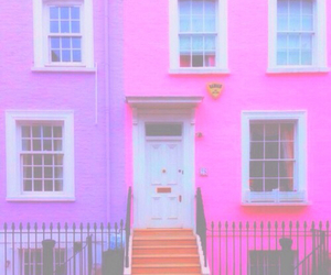 bright, bright pastel, and house image