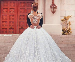 fashion, romance, and wedding dress image
