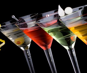 cocktail, glasses, and colors image