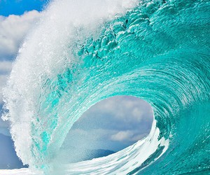 waves, sea, and blue image