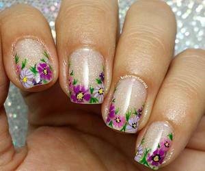 elegant, floral, and manicure image