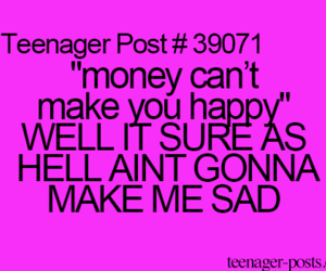 money, teenager post, and happy image