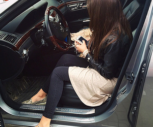 car, girls, and luxury image