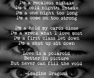 eyes, reckless, and imagine dragons image