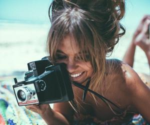 beach, camera, and tan image