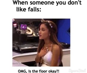 funny, OMG, and floor image