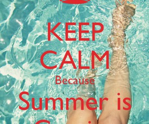 summer, water, and keep calm image