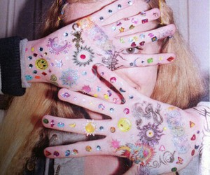 girl, grunge, and sticker image