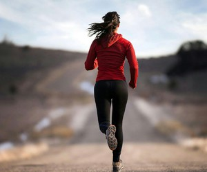 running, fitness, and girl image