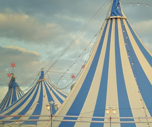 circus, blue, and carnival image