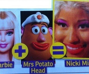 barbie, nicki minaj, and funny image