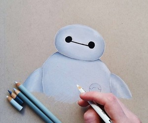 art, baymax, and drawing image