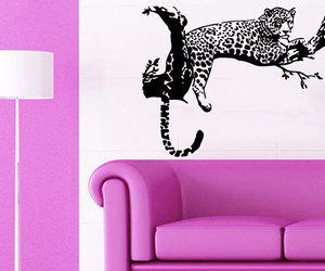 cheetah, home decor, and wall decals image