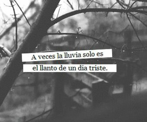 lluvia, frases, and triste image