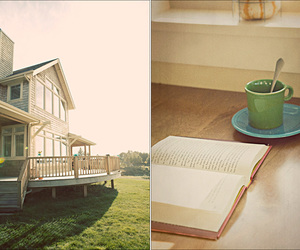 book, house, and tee image