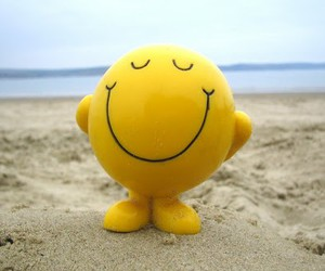 smile, happy, and beach image