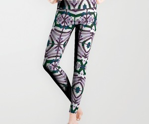 leggings, printed leggings, and abstract leggings image