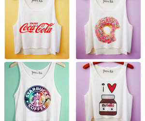 nutella, donuts, and starbucks image