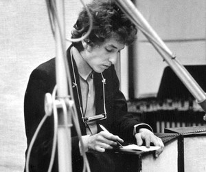 1960s, black and white, and bob dylan image