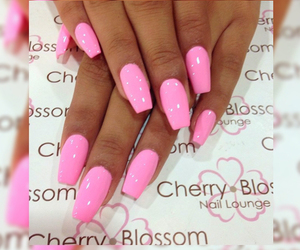 baby pink, barbie, and coffin nails image