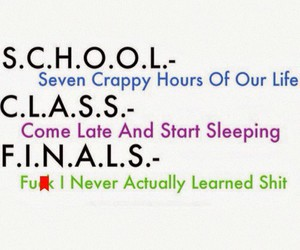 school, class, and finals image