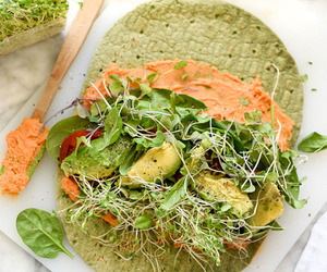 food, hummus, and veggie image