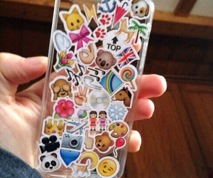 case, iphone, and emoji image