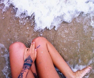 beach, photography, and best friends image