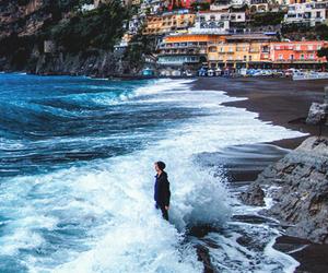 sea, beach, and italy image