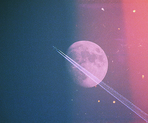 moon, sky, and space image