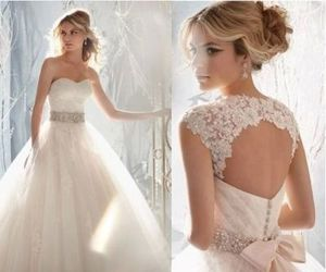 bride, wedding dress, and white dress image