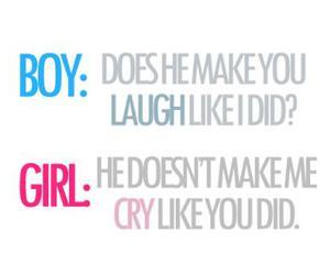 boy, girl, and cry image