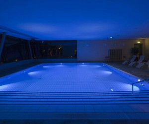 blue, light, and pool image