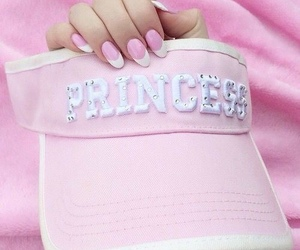 pink, princess, and nails image
