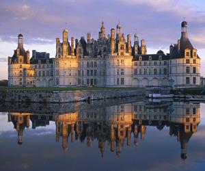 castle, france, and lake image