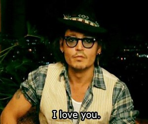 I Love You, love, and johnny depp image