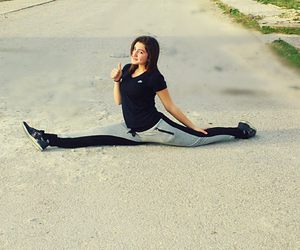 flexible, girl, and gym image
