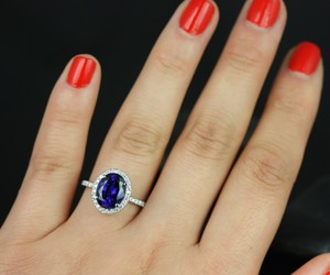 gold, sapphire, and engagement ring image