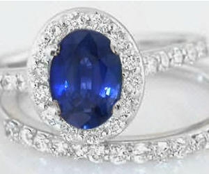 gold, ring, and sapphire image
